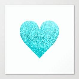 AQUA HEART Canvas Print