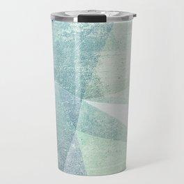 Frozen Geometry - Teal & Turquoise Travel Mug