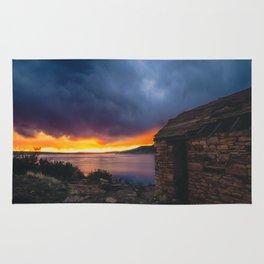 Southwest Lake Sunset Rug