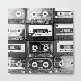 Something Nostalgic - black and white #decor #buyart #society6 Metal Print