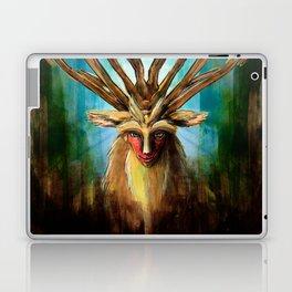 Princess Mononoke The Deer God Shishigami Tra Digital Painting. Laptop & iPad Skin
