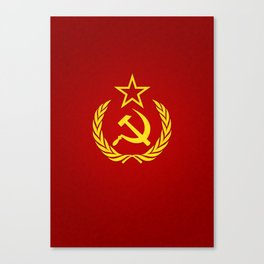 Hammer and Sickle Textured Flag Canvas Print
