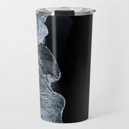 Waves on a black sand beach in iceland - minimalist Landscape Photography Travel Mug