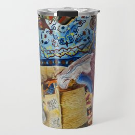 Turkish Rug Weaver by Nadia J Art Travel Mug