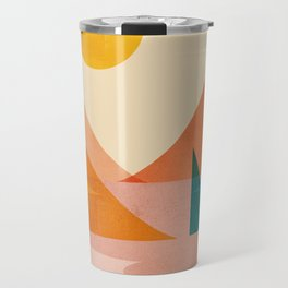 Abstraction_Lake_Sunset Travel Mug
