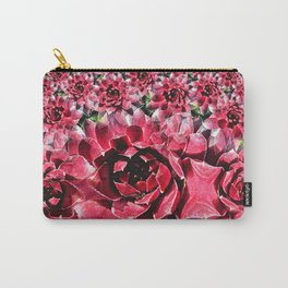 Red Hen & Chicks Fractal Carry-All Pouch