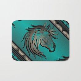 Horse Nation (Aqua) Bath Mat
