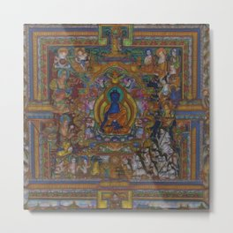 The Medicine Buddha Metal Print