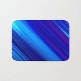 Abstract watercolor colorful lines painting Bath Mat