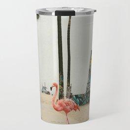 Venice Beach Flamingo Travel Mug