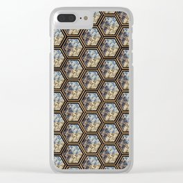 Floral Repetition Clear iPhone Case