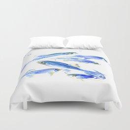 Zebra Fish, Danio Duvet Cover