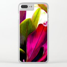 Ti Leaf Bouquet Clear iPhone Case