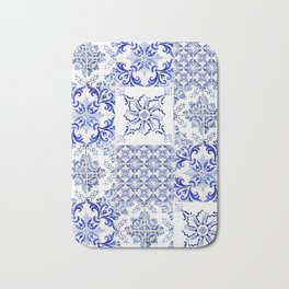 Azulejo VIII - Portuguese hand painted tiles Bath Mat