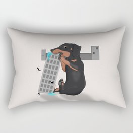 Attack of the Enormous Dachshund!!! Rectangular Pillow