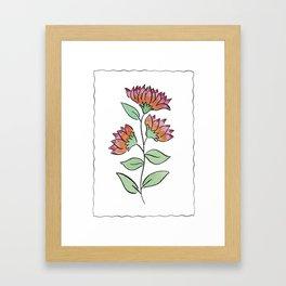 Flower Watercolor Painting Framed Art Print