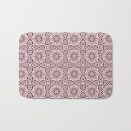 Blushing Bride Flowers and Hearts Bath Mat