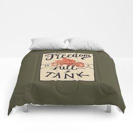 Freedom biker print Comforters