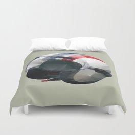 Tag Heuer Steve McQueen Cafe Racer Helmet Polygon Art Duvet Cover