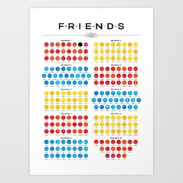 Tribute to Friends Art Print