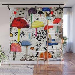 Mein Ein, mein Alles - Mushrooms Abstract Botanical Art - cute animal print - Leopard Muster Wall Mural