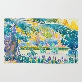 Henri-Edmond Cross Neo-Impressionism Pointillism Garden of the Painter at Saint Clair 1908 Rug
