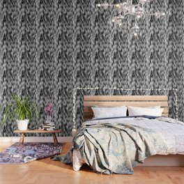 WAVY #1 (Black, White & Grays) Wallpaper