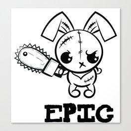 Epic Grumpy Voodoo Bunny Cute Bigfoot Monsters Canvas Print