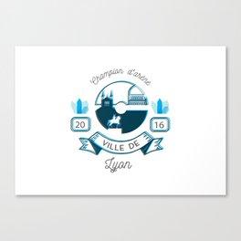 Lyon - Équipe bleu - poke go Canvas Print