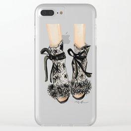 Designer Bridal Shoes Clear iPhone Case
