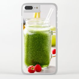 green smoothie Clear iPhone Case