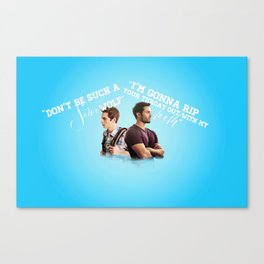 Stiles & Derek (Teen Wolf)  Canvas Print