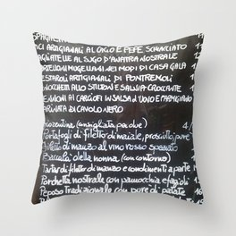 Italian menu Throw Pillow