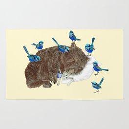 Wrens Wombat sleep Rug