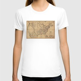 Map of the United States by John Melish (1818) 3rd State T-shirt