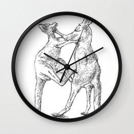 Boxing Roos Wall Clock