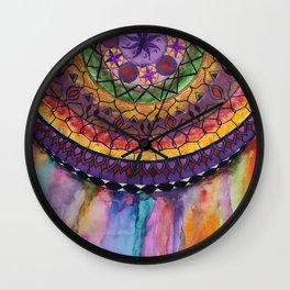 Bleeding Mandala Wall Clock