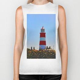 Happisburgh Lighthouse portrait Biker Tank