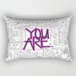 You Are - Fuchsia Rectangular Pillow