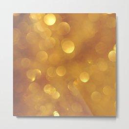 Golden Bokeh Metal Print