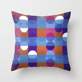 Game of circles Throw Pillow