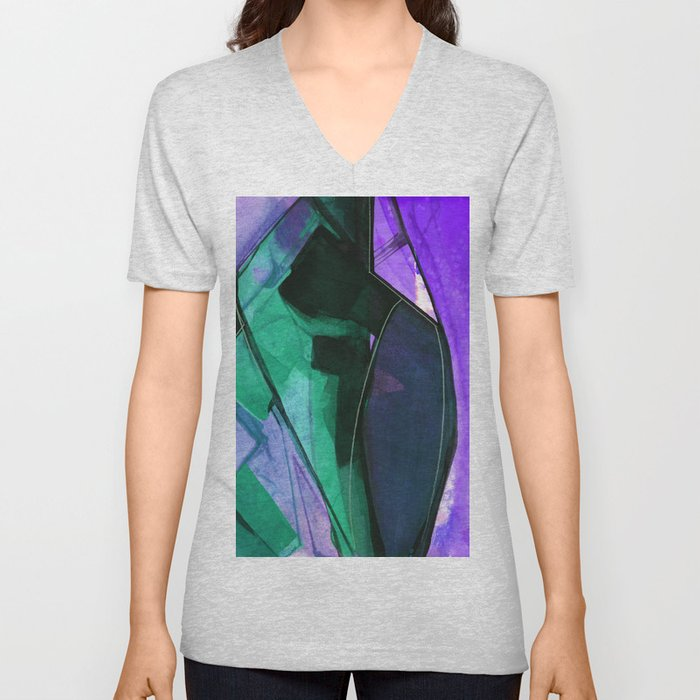 Abstraction 317J by Kathy Morton Stanion Unisex V-Neck