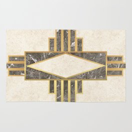 Luxurious gold and marble Rug