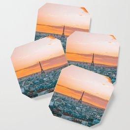 Sunset in Paris (Color) Coaster