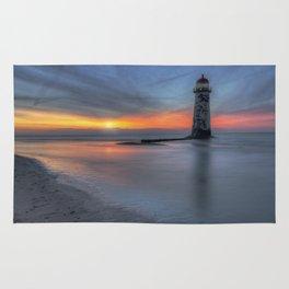 Sunset at the Lighthouse v3 Rug