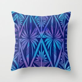Tapa/Siapo Polynesian bark cloth art (Samoan) Throw Pillow