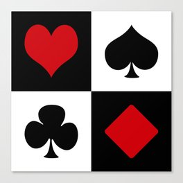 Playing card Canvas Print