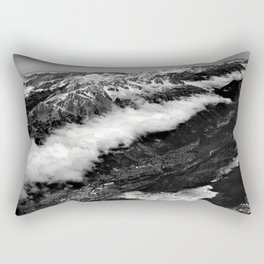 View from Mont Blanc of Chamonix, France. Rectangular Pillow