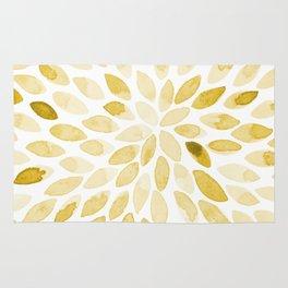 Watercolor brush strokes - yellow Rug