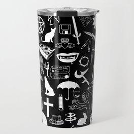 Buffy Symbology, White Travel Mug